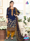 Rakhi 4437B Blue and Yellow Lawn Designer Suit
