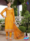 Rakhi 4456 B Yellow and multicolor Printed glace cotton Suit