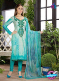 Rakhi 4460 A Sea Green Printed glace cotton Suit