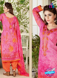 Rakhi 4462 A Pink and Orange Color Printed Cotton Suit