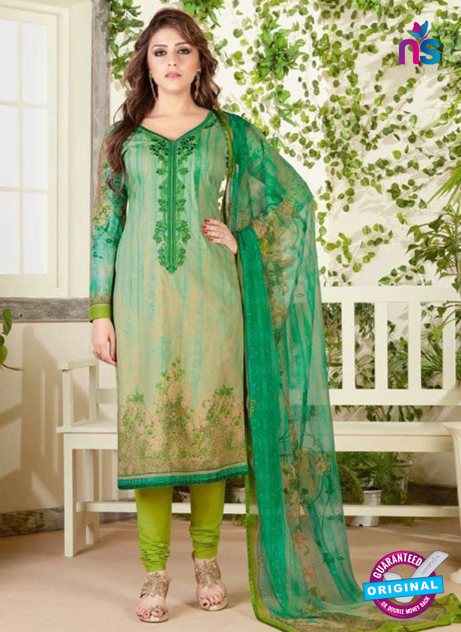 Rakhi 4464 B Green Color Printed Cotton Suit