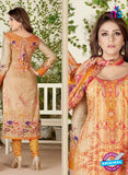 Rakhi 4465 A Beige and Orange Color Printed Cotton Suit Online