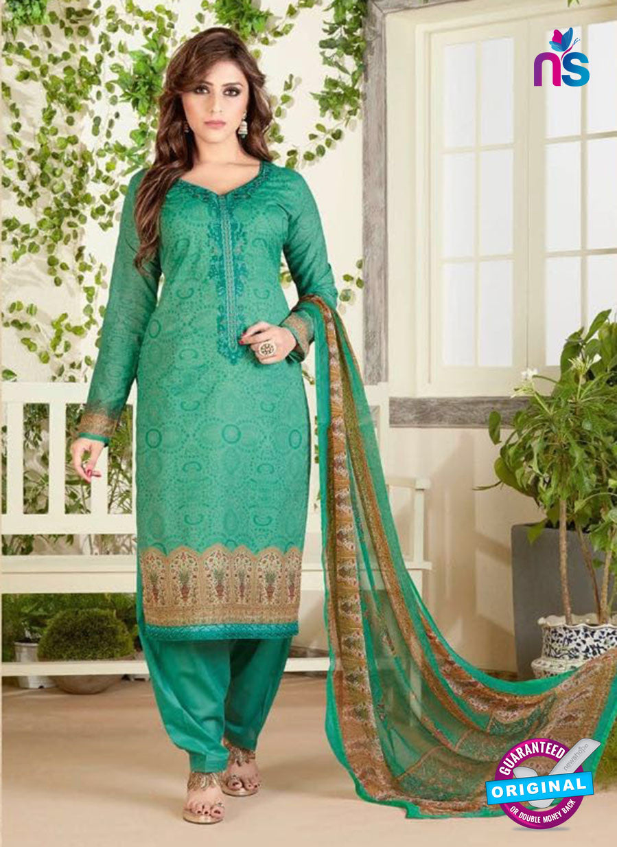 Rakhi 4466 B Green Color Printed Cotton Suit