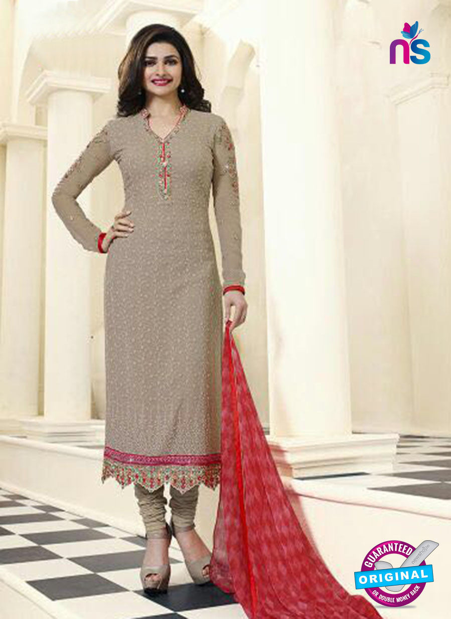 Vinay Fashion 4478 Beige Georgette Party Wear Suit