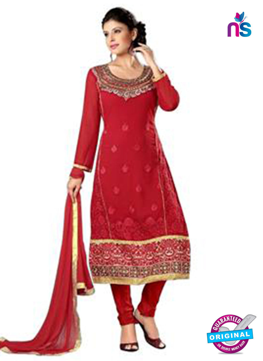 NS12280 Red and Golden Straight Suit