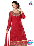 NS12280 Red and Golden Straight Suit Online