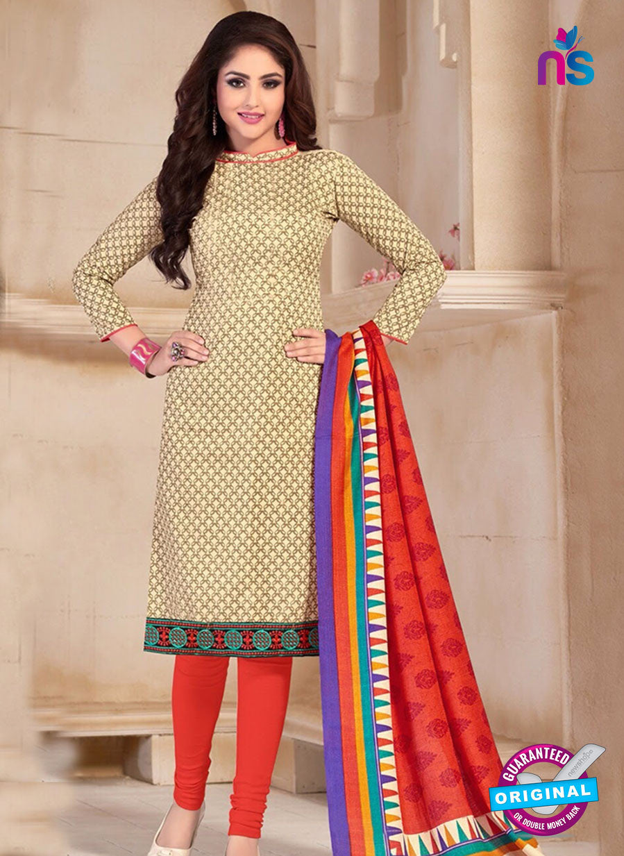 NS10678 Yellow and Red Silk Designer Suit