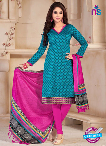 NS10679 Blue and Pink Silk Designer Suit