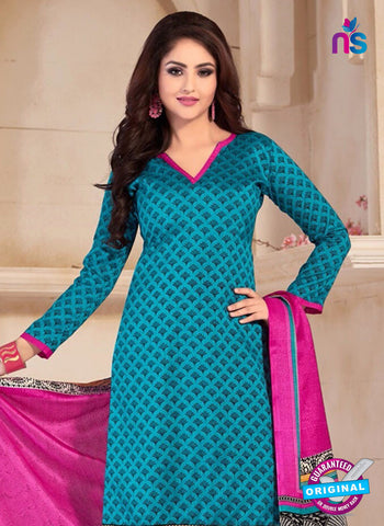 NS10679 Sky Blue and Pink Silk Designer Suit