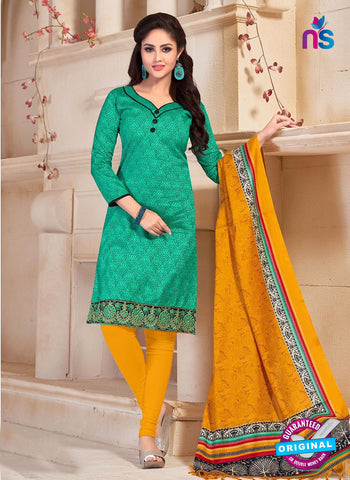 NS10684 Green and Yellow Silk Designer Suit