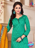 NS10684 Sea Green and Yellow Silk Designer Suit