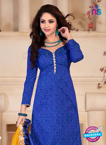 NS10688 Blue and Yellow Silk Designer Suit