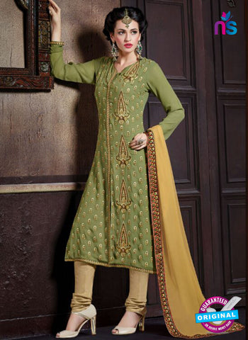 Shivam Ruhab 4501 Green and Beige Georgette Party Wear Suit