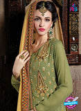 Shivam Ruhab 4501 Green and Beige Georgette Party Wear Suit Online