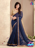 AZ 3414 Blue Georgette Fancy Designer Saree