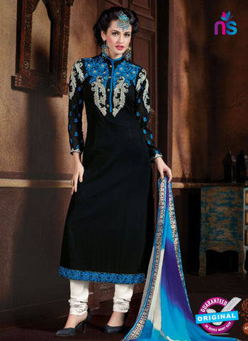 Shivam Ruhab 4504 Black and White Georgette Party Wear Suit Online