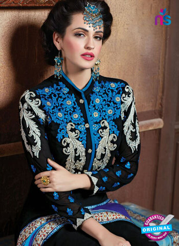 Shivam Ruhab 4504 Black and White Georgette Party Wear Suit