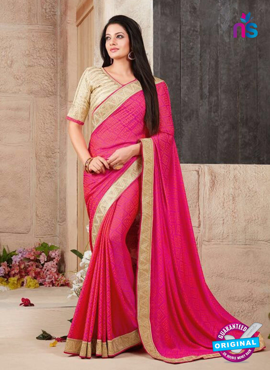 AZ 3417 Pink Georgette Fancy Designer Saree