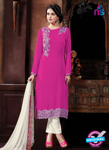 Shivam Ruhab 4505 Magenta and White Georgette Party Wear Suit