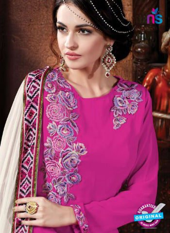 Shivam Ruhab 4505 Magenta and White Georgette Party Wear Suit Online