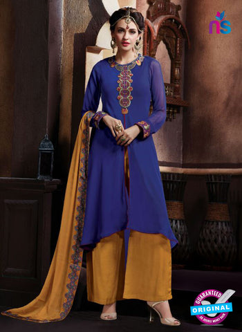 AZ 2067 Blue and Yellow Georgette Party Wear Suit