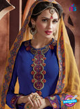 AZ 2067 Blue and Yellow Georgette Party Wear Suit - Salwar Suits - NEW SHOP