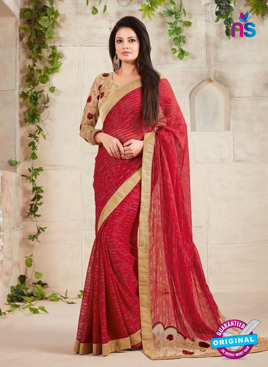 AZ 3419 Maroon Georgette Fancy Designer Saree