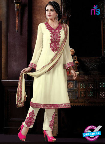 AZ 2068 Beige Georgette Party Wear Suit