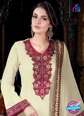 Shivam Ruhab 4507 Beige Georgette Party Wear Suit Online