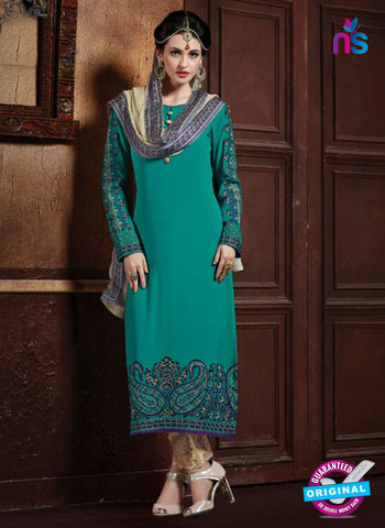 AZ 2069 Sea Green and Beige Georgette Party Wear Suit