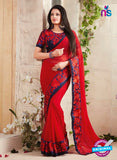 AZ 3421 Red Georgette Fancy Designer Saree