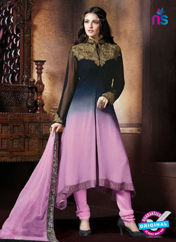 AZ 2070 Black and Pink Georgette Party Wear Suit