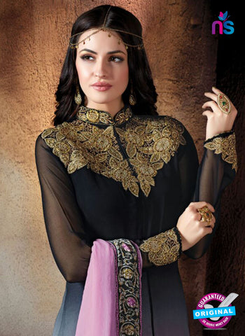 Shivam Ruhab 4509 Black and Pink Georgette Party Wear Suit Onlin