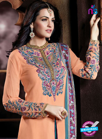 AZ 2071 Peach and Sea Green Georgette Party Wear Suit