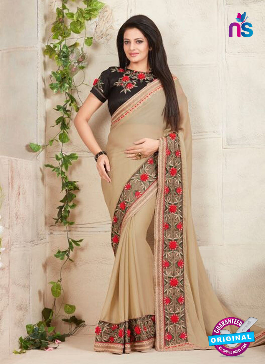 AZ 3423 Beige Georgette Fancy Designer Saree