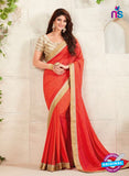 AZ 3424 Orange Georgette Fancy Designer Saree
