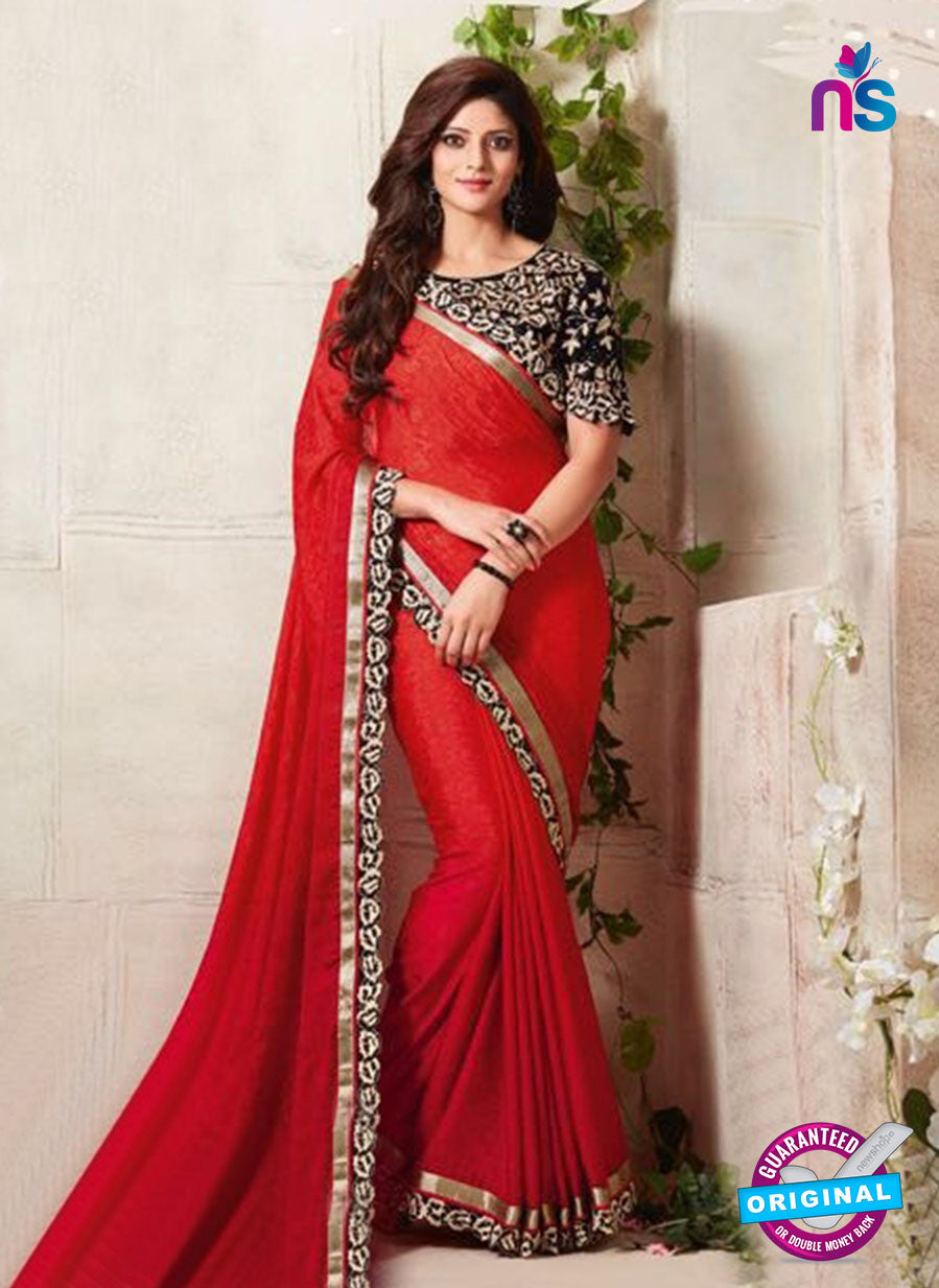 AZ 3426 Red Georgette Fancy Designer Saree