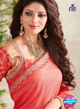AZ 3428 Peach Georgette Fancy Designer Saree