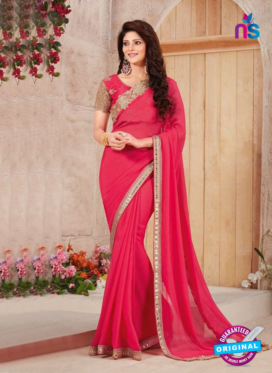 AZ 3430 Pink Georgette Fancy Designer Saree