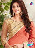 AZ 3436 Peach Georgette Fancy Designer Saree