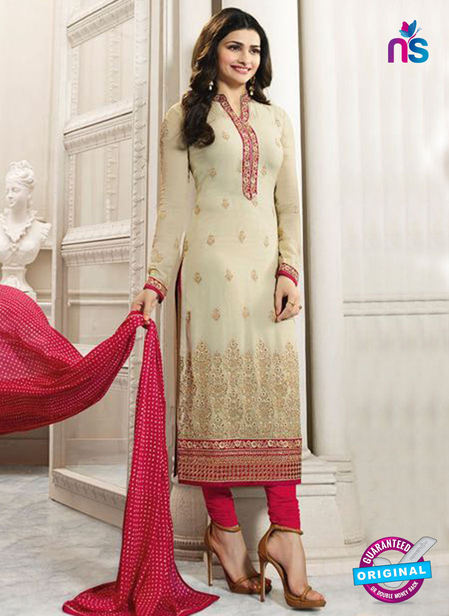 Vinay Fashion 4561 Beige and Pink Georgette Party Wear Suit