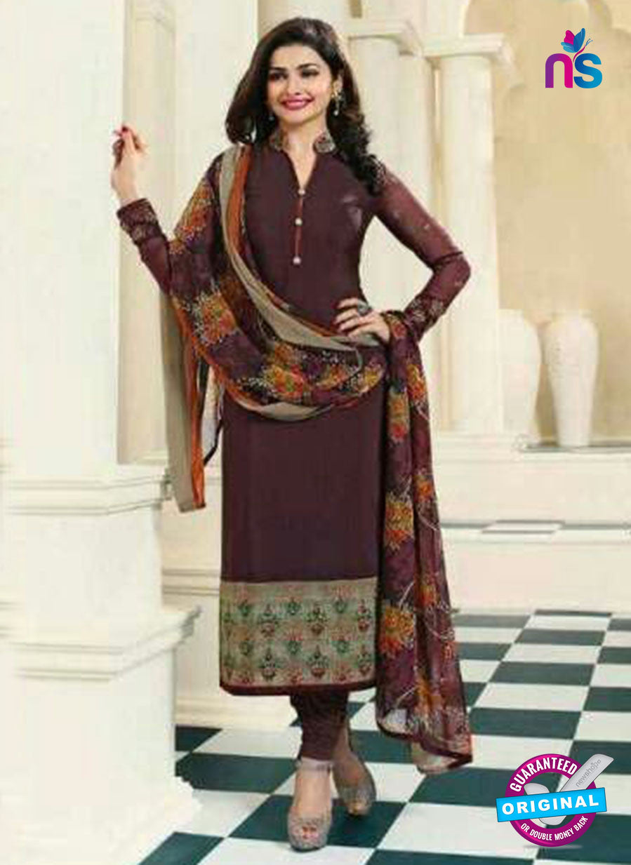 Vinay Fashion 4562 Brown Crepe Party Wear Suit