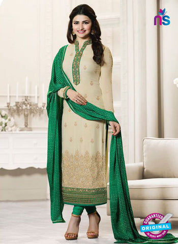 Vinay Fashion 4563 Beige and Green Georgette Party Wear Suit