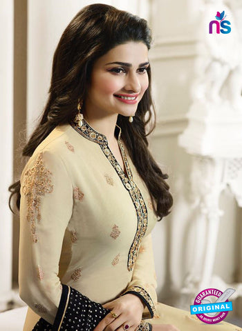 Vinay Fashion 4564 Beige and Black Georgette Party Wear Suit