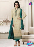 Vinay Fashion 4565 Beige and Sea Green Georgette Party Wear Suit