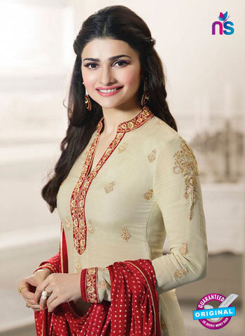 Vinay Fashion 4566 Beige and Red Georgette Party Wear Suit