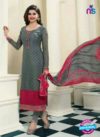Vinay Fashion 4568 Grey Crepe Party Wear Suit