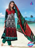 NS12281 Red and Green Pakistani Suit