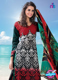NS12281 Red and Green Pakistani Suit Online