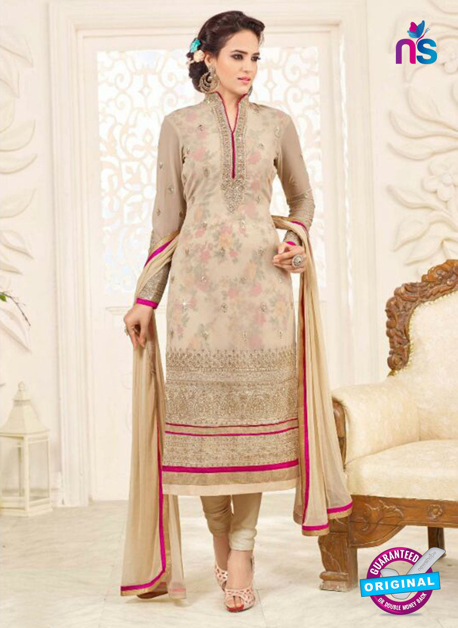 SC 14048 Beige Georgette Exclusive Fancy Designer Chudidhar Straight Suit